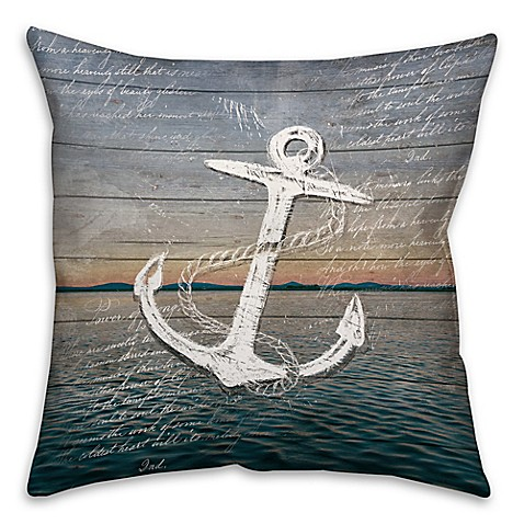 Madison Square 18-Inch Decorative Pillows : Buy Distressed Anchor 18-Inch Square Throw Pillow from Bed Bath & Beyond