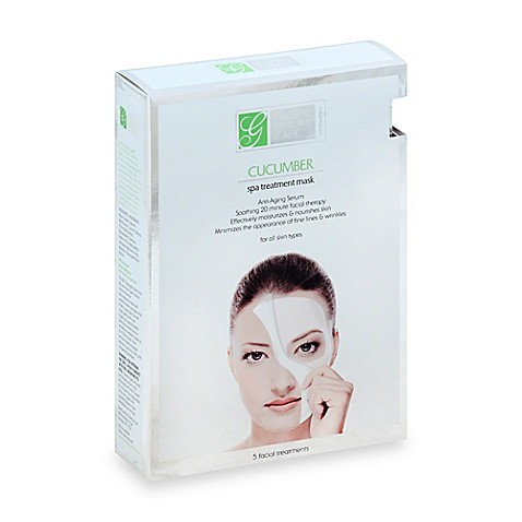 Global beauty care 5 count cucumber spa treatment mask for Beauty treatment bed
