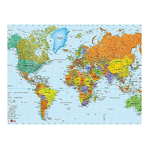 Bed Bath And Beyond Wall World Map