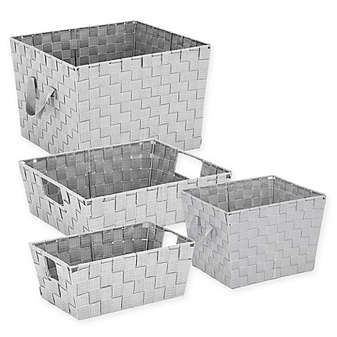 Woven Storage Tote in Light Grey at Bed Bath & Beyond in Cypress, TX | Tuggl