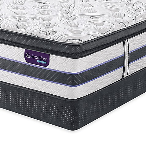 Serta® iComfort® HYBRID HB500Q SmartSupport™ Super Pillow Top Low Profile Mattress Set at Bed Bath & Beyond in Cypress, TX   Tuggl