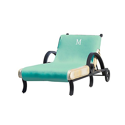 Linum home textiles chaise lounge cover in aqua bed bath for Aqua chaise lounge cushions