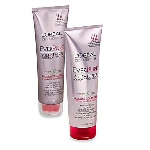 l 39 oreal paris everpure 8 5 oz sulfate free color care system moisture shampoo conditioner. Black Bedroom Furniture Sets. Home Design Ideas