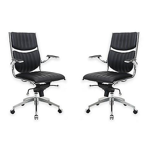 Manhattan Comfort Verdi Ergonomic High Back Office Chairs Set Of 2 Bed Ba