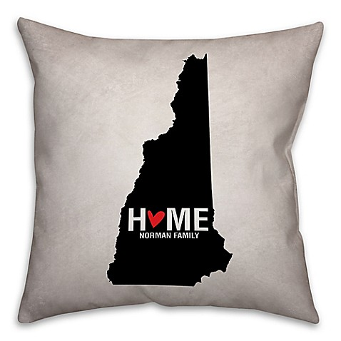 Black Throw Pillows Bed Bath And Beyond : Buy New Hampshire State Pride Square Throw Pillow in Black/White from Bed Bath & Beyond