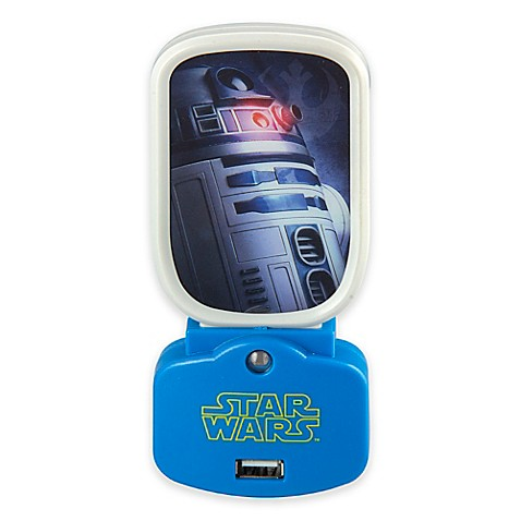star wars r2d2 charging usb nightlight bed bath beyond. Black Bedroom Furniture Sets. Home Design Ideas