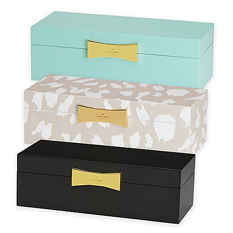Kate spade new york garden drive rectangular jewelry box for Bed bath and beyond kate spade