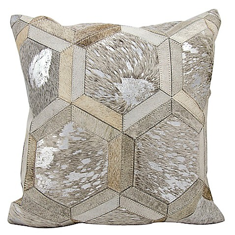 Big Square Decorative Pillows : Michael Amini Big Hexagon Square Throw Pillow - Bed Bath & Beyond