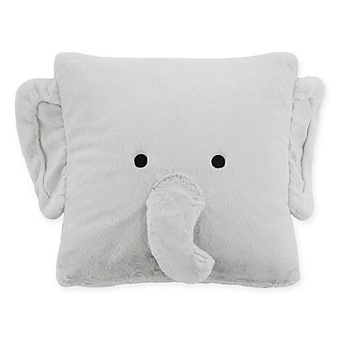 Elephant Throw Pillow Bed Bath And Beyond : Decor Innovation Faux Fur Elephant Square Throw Pillow in Grey - Bed Bath & Beyond