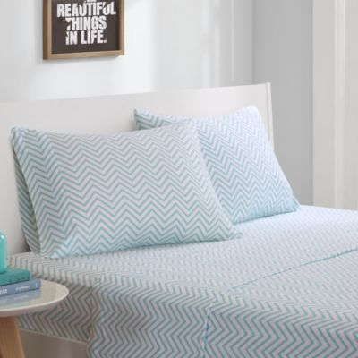 Patterned Jersey Knit Sheets : Buy Intelligent Design  Jersey Knit Chevron Printed Sheet Set from Bed Bath &...