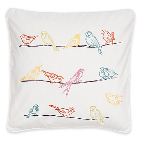 Levtex Home Brittany Bird Square Throw Pillow - Bed Bath & Beyond