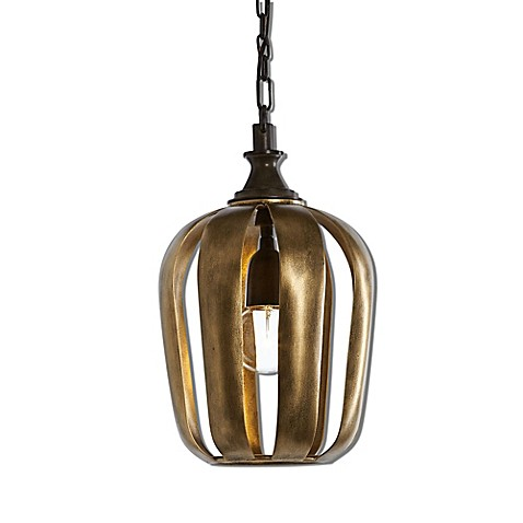 Uttermost Zucca Mini Pendant Light In Antique Gold Bed Bath Beyond