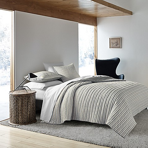 Ed Ellen De Generes Horizon Pillow Sham In Grey by Bed Bath And Beyond