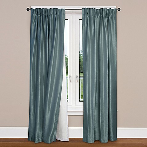 pocket insulating blackout curtain liner in white bed bath beyond. Black Bedroom Furniture Sets. Home Design Ideas