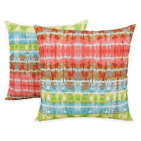 Arlee Home Fashions Tie Dye Ladder Printed Throw Pillows Set Of 2 Bed Bath Beyond