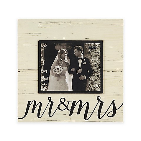 "Mud Pie® ""Mr. & Mrs."" 8-inch x 10-inch Picture Frame at Bed Bath & Beyond in Cypress, TX 