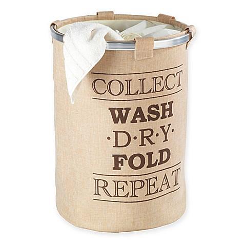 Wenko ringo laundry bin bed bath beyond for Beige bathroom bin