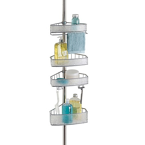 Buy Interdesign Rain Tension Corner Shower Caddy In