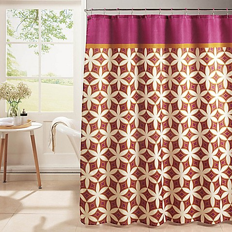 Buy Harajuku Shower Curtain With Hooks In Pink Orange From Bed Bath Beyond