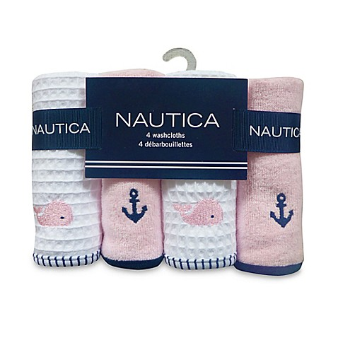 Buy Nautica 4 Pack Washcloths In Pink From Bed Bath Beyond