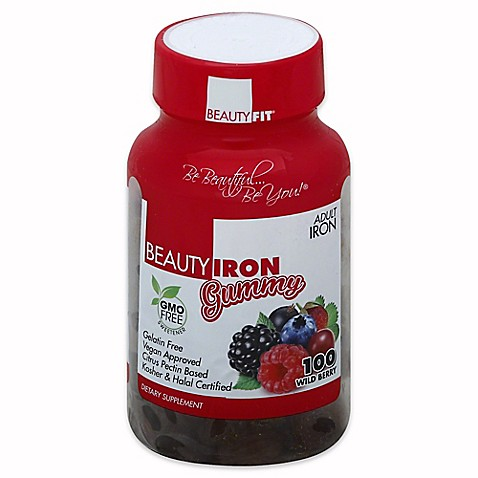 Gummy iron vitamins for adults