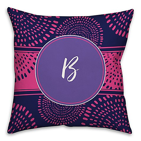 Boho Tribal Square Throw Pillow in Purple/Pink - Bed Bath & Beyond
