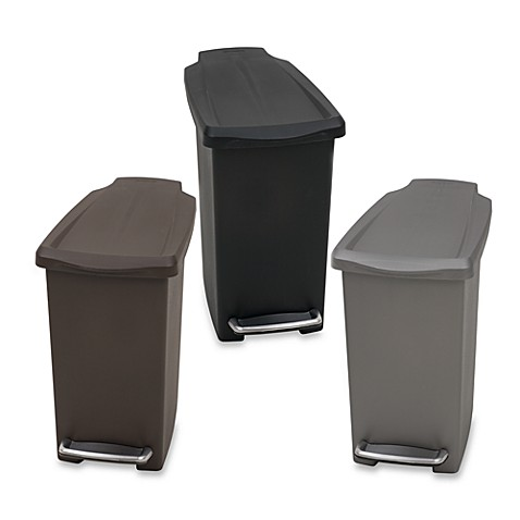 Simplehuman Mini Slim Plastic 10 Liter Step On Trash Can