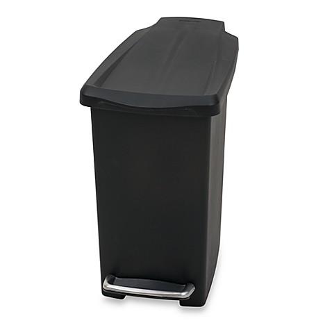 simplehuman mini slim plastic 10 liter step on trash can bed bath beyond. Black Bedroom Furniture Sets. Home Design Ideas