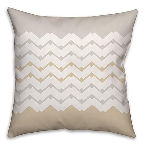 White Cream Throw Pillows : Jagged Chevron Square Throw Pillow in Cream/White - Bed Bath & Beyond