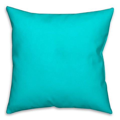 Buy Solid Color Square Throw Pillow in Turquoise from Bed Bath & Beyond