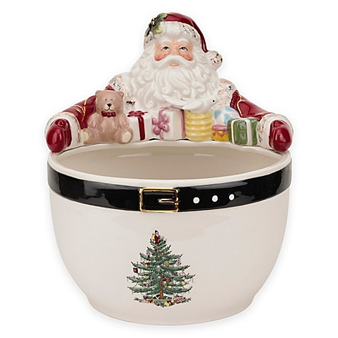 Spode Christmas Tree Santa Nut Bowl Bed Bath Beyond