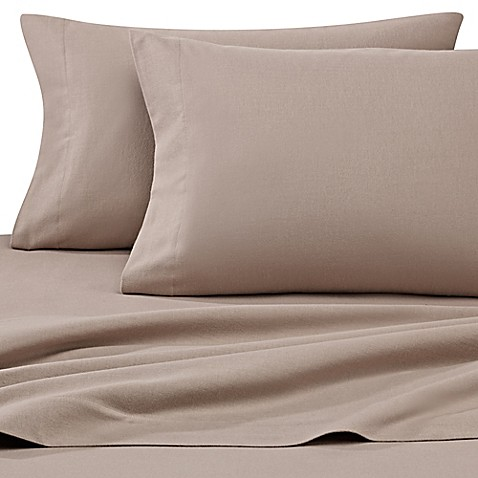 Buy luxury portuguese flannel solid queen sheet set in for Silk sheets queen bed bath beyond