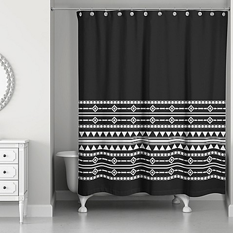 Buy Boho Tribal Shower Curtain In Black White From Bed