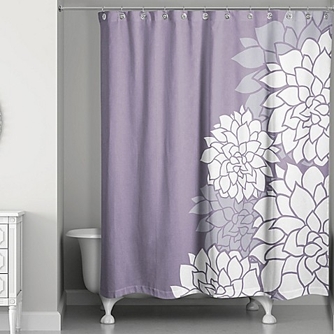 Buy Imperial Efflorescence Shower Curtain In Purple From Bed Bath Beyond