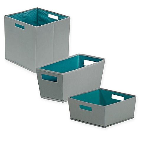 B in castlerock fabric storage bin in dark grey bed for Dark grey bathroom bin