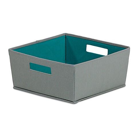 Buy b in castlerock fabric half storage bin in dark grey for Dark grey bathroom bin