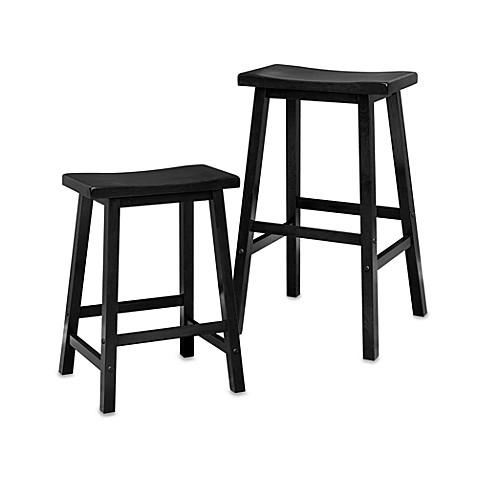 Saddle Stool In Black Bed Bath Amp Beyond