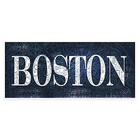 Boston Blueprint Gicl E Canvas Wall Art Bed Bath Beyond