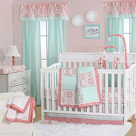 The Peanut Shell 174 Medallion Crib Bedding Collection In