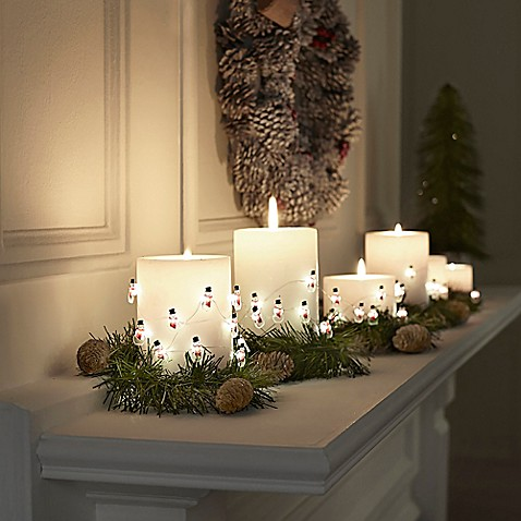 10 foot snowmen led string lights bed bath beyond - Petite maison de noel decoration ...