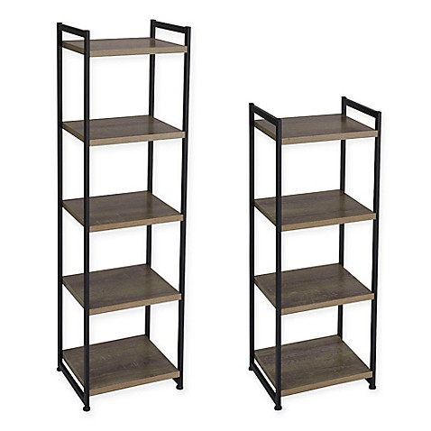 Household Essentials® Ashwood Shelf Storage Tower Bookcase at Bed Bath & Beyond in Cypress, TX | Tuggl