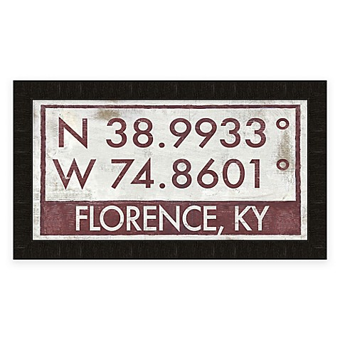 Florence Kentucky Coordinates Framed Wall Art Bed Bath Beyond