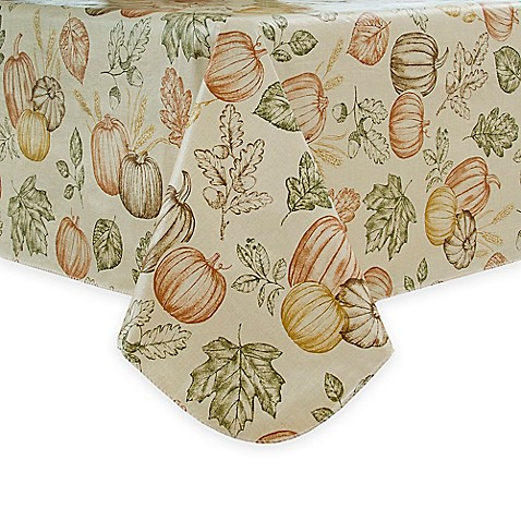 Buy sketched harvest 52 inch x 70 inch oblong vinyl for Table linens 52 x 70