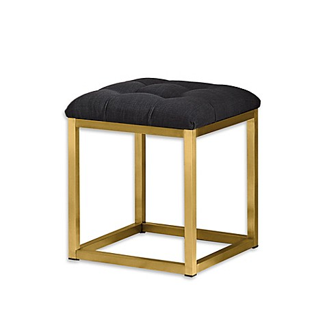 Lf products jasmine vanity stool in grey bed bath beyond - Bed bath and beyond bathroom vanity ...