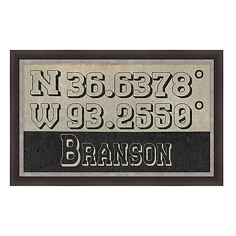 Branson Missouri Coordinates Framed Wall Art Bed Bath Beyond