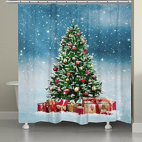 laural home snowy tree shower curtain bed bath beyond. Black Bedroom Furniture Sets. Home Design Ideas