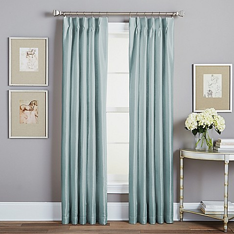 Buy Spellbound Pinch Pleat 63 Inch Rod Pocket Lined Window Curtain Panel In Seafoam From Bed