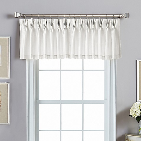 Buy Spellbound Pinch Pleat Backtab Valance In White From Bed Bath Beyond