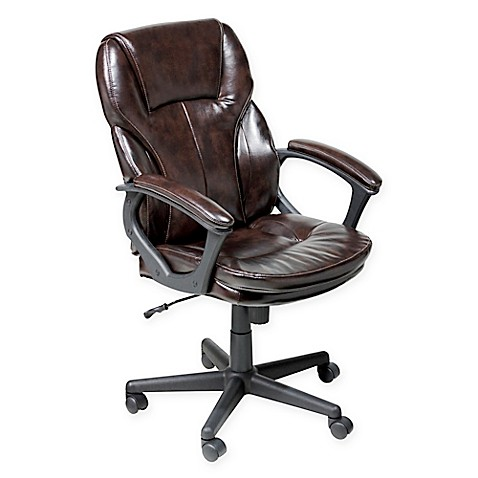 Serta 174 Managers Faux Leather Executive Office Chair In
