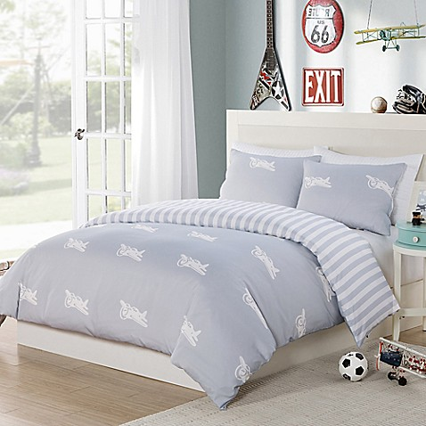 Lala Bash Bradford Airplanes Reversible Comforter Set